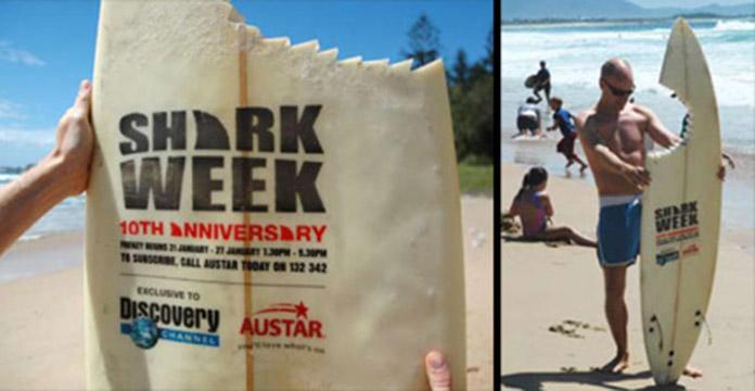 Shark Week Guerrilla Marketing