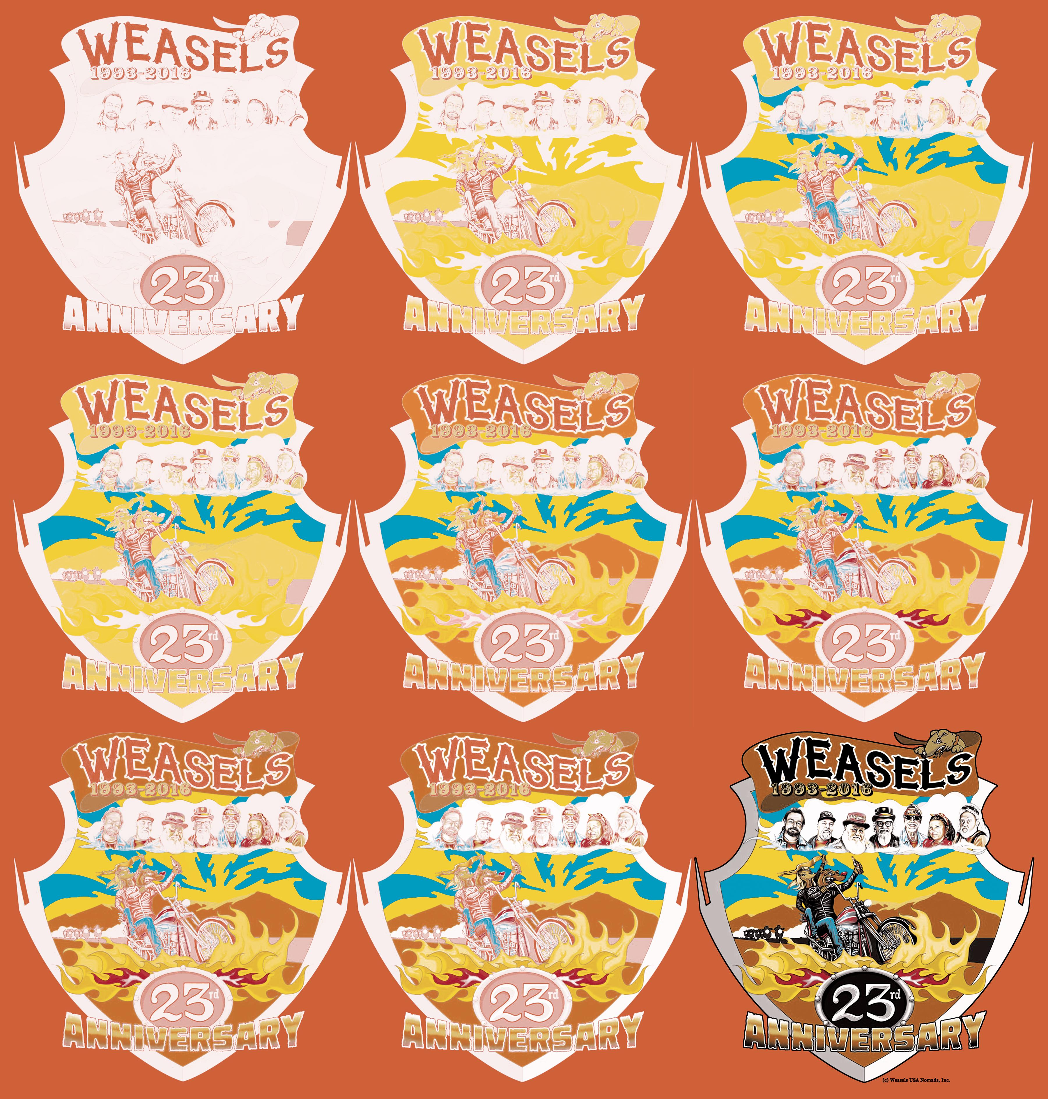 weasels 9 ink screens