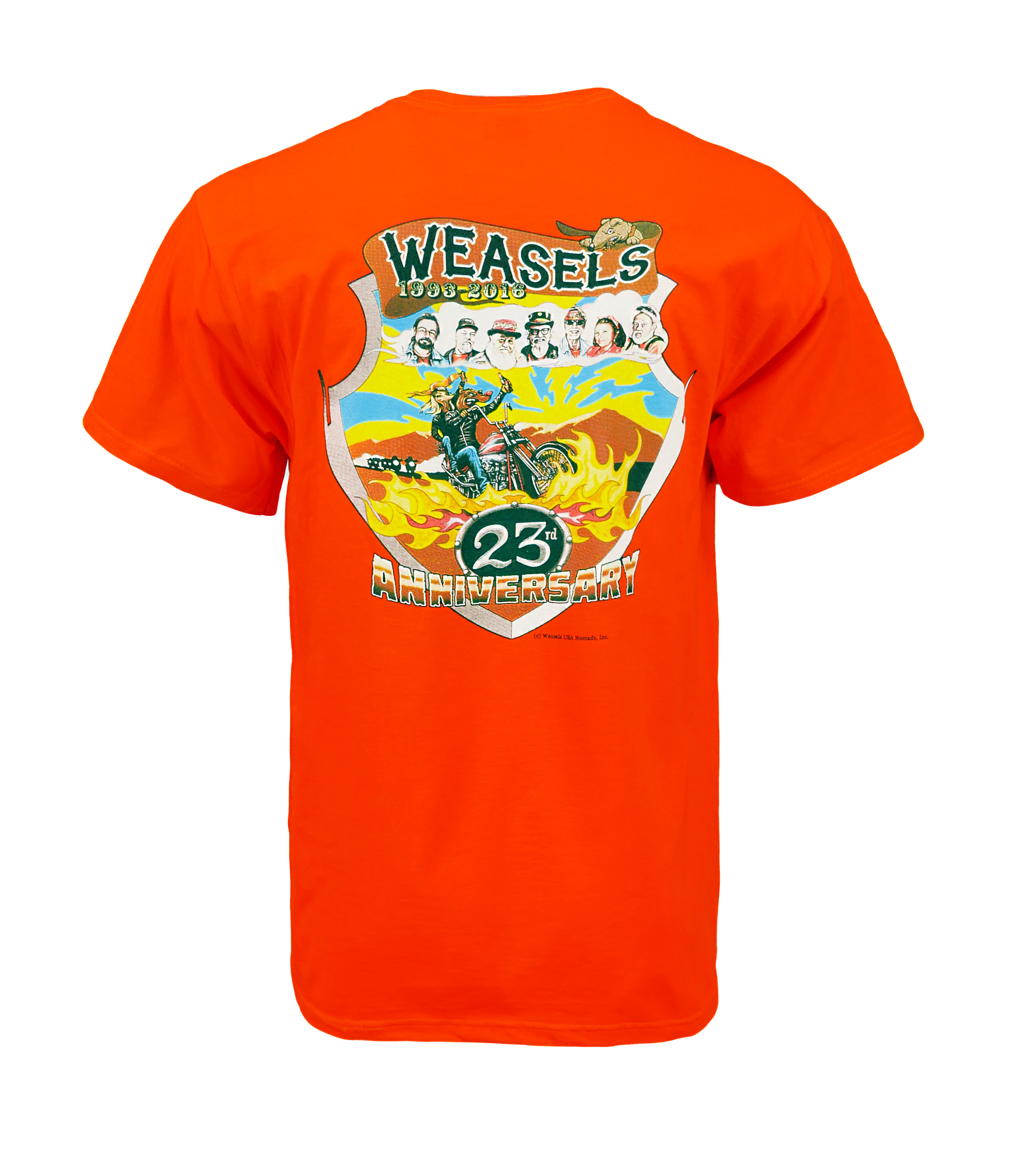 weasels shirt production photo